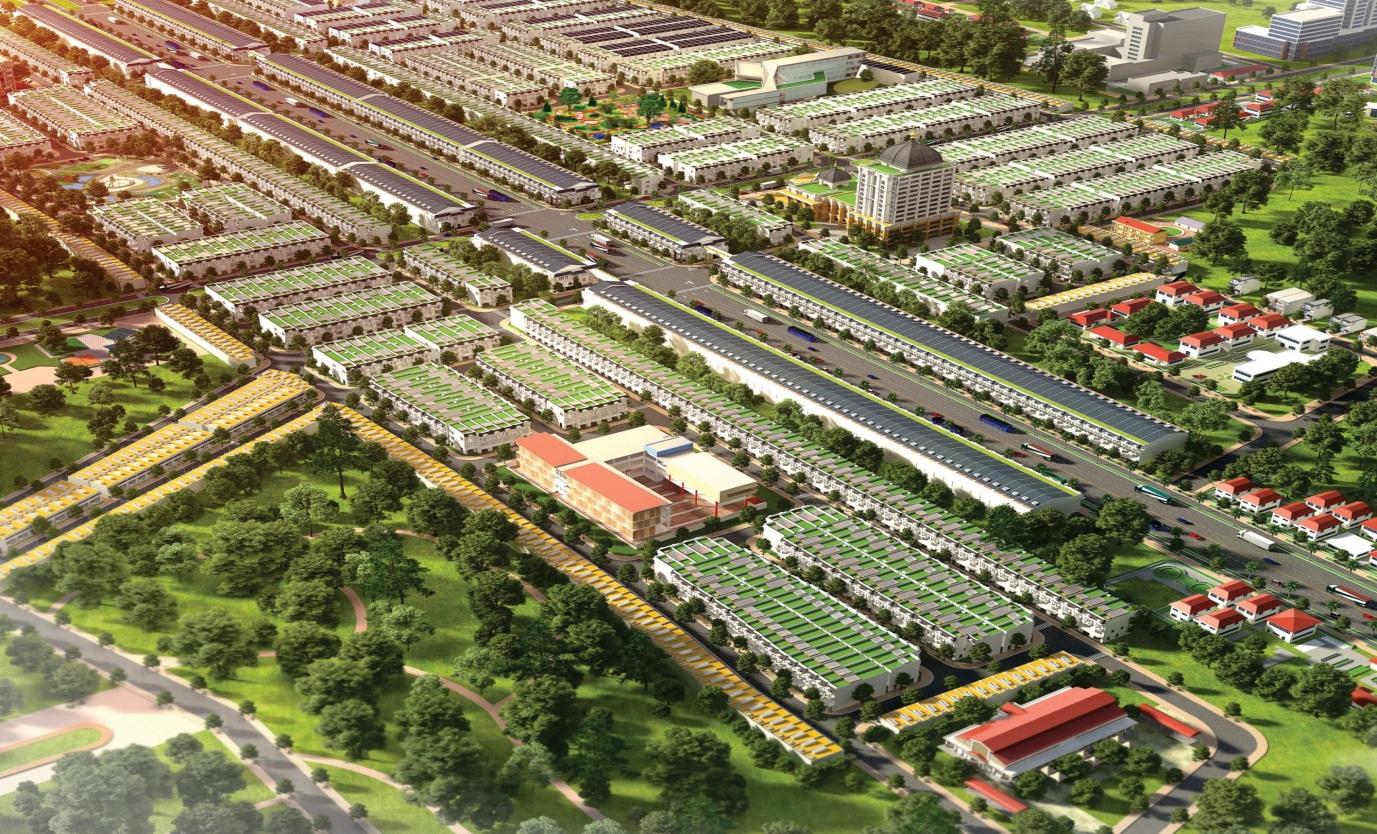 Hình ảnh phối cảnh dự án Phúc Hưng Golden tại Chơn Thành, tỉnh Bình Phước