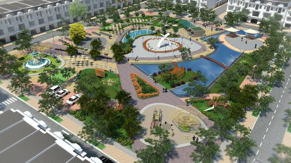 Công viên trung tâm tại dự án KĐT Phúc Hưng Golden