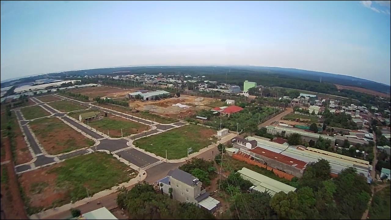 Khu đất dự án nhà phố thương mại nhìn từ trên cao