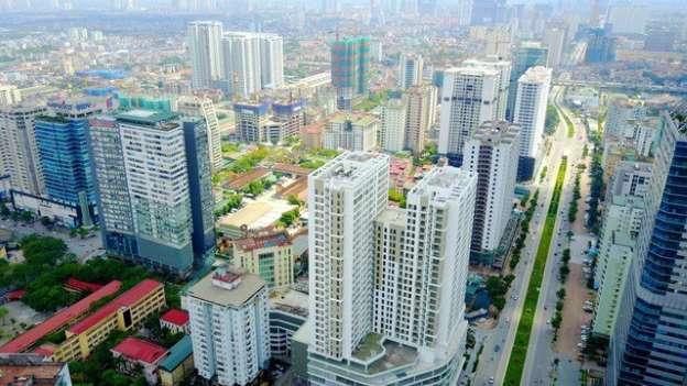nhiều tòa nhà TP.HCM nhìn từ trên cao