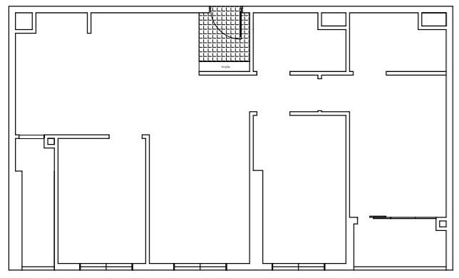 mặt bằng hiện trạng căn hộ 3 phòng ngủ