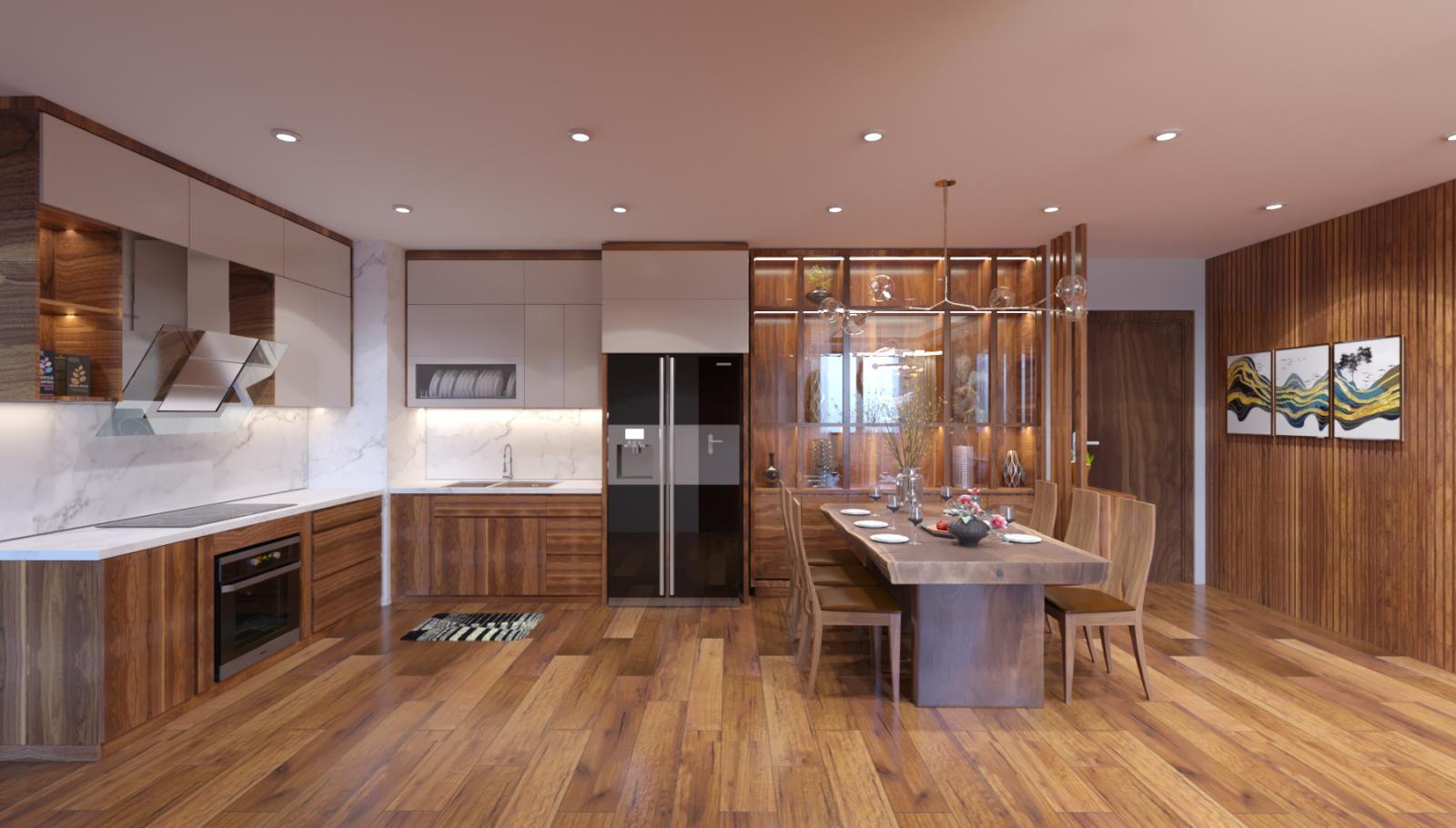 góc nấu nướng trong căn hộ