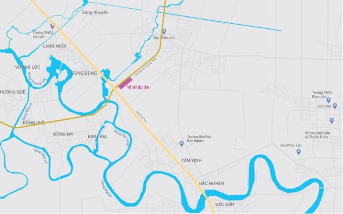 sơ đồ Vị trí dự án KĐT Thiên Lộc Complex