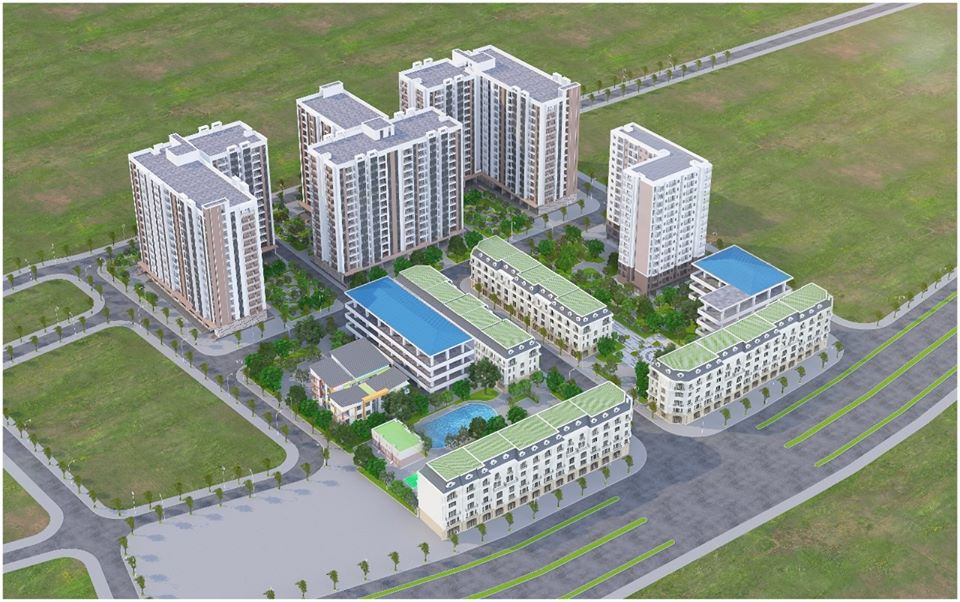 Hình ảnh phối cảnh dự án Nhà ở xã hội huyện Thuận Thành