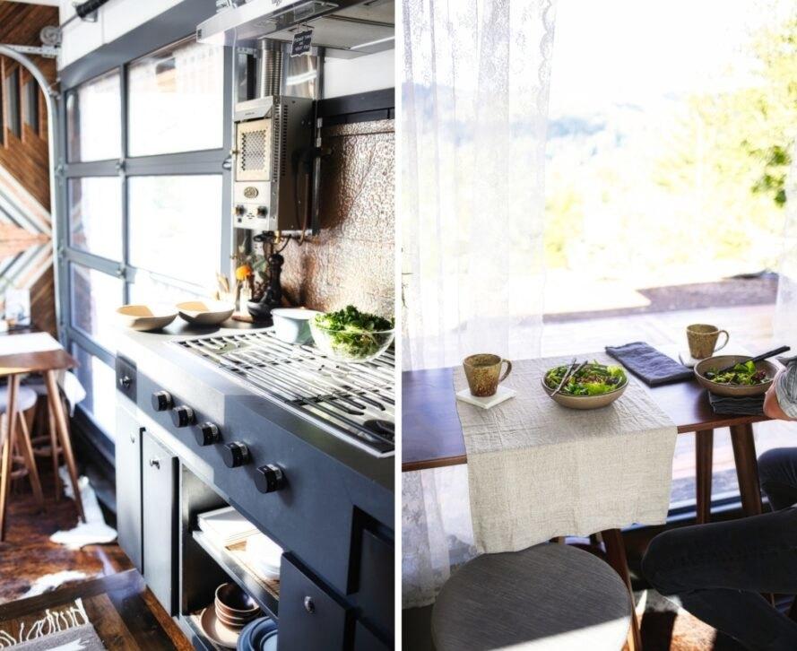bếp và bàn ăn