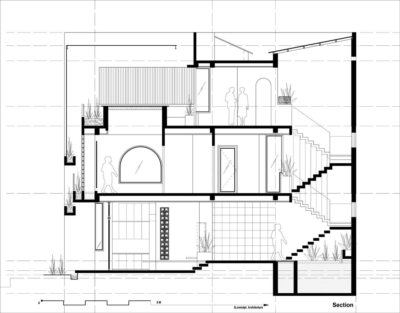mặt cắt ngôi nhà