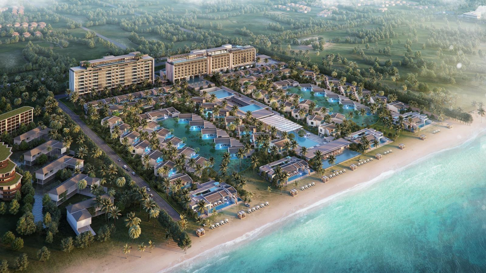 Phối cảnh một dự án nghỉ dưỡng nằm ven biển