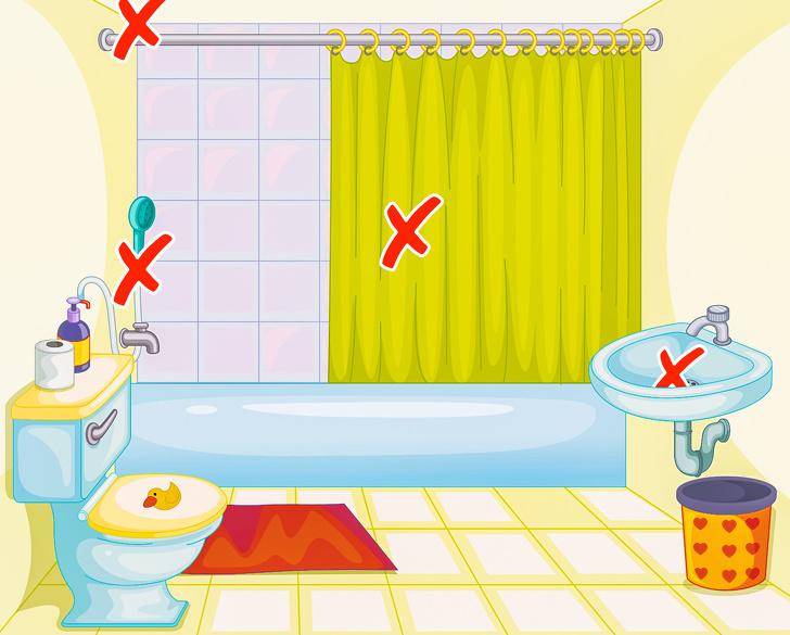 hình vẽ phòng tắm