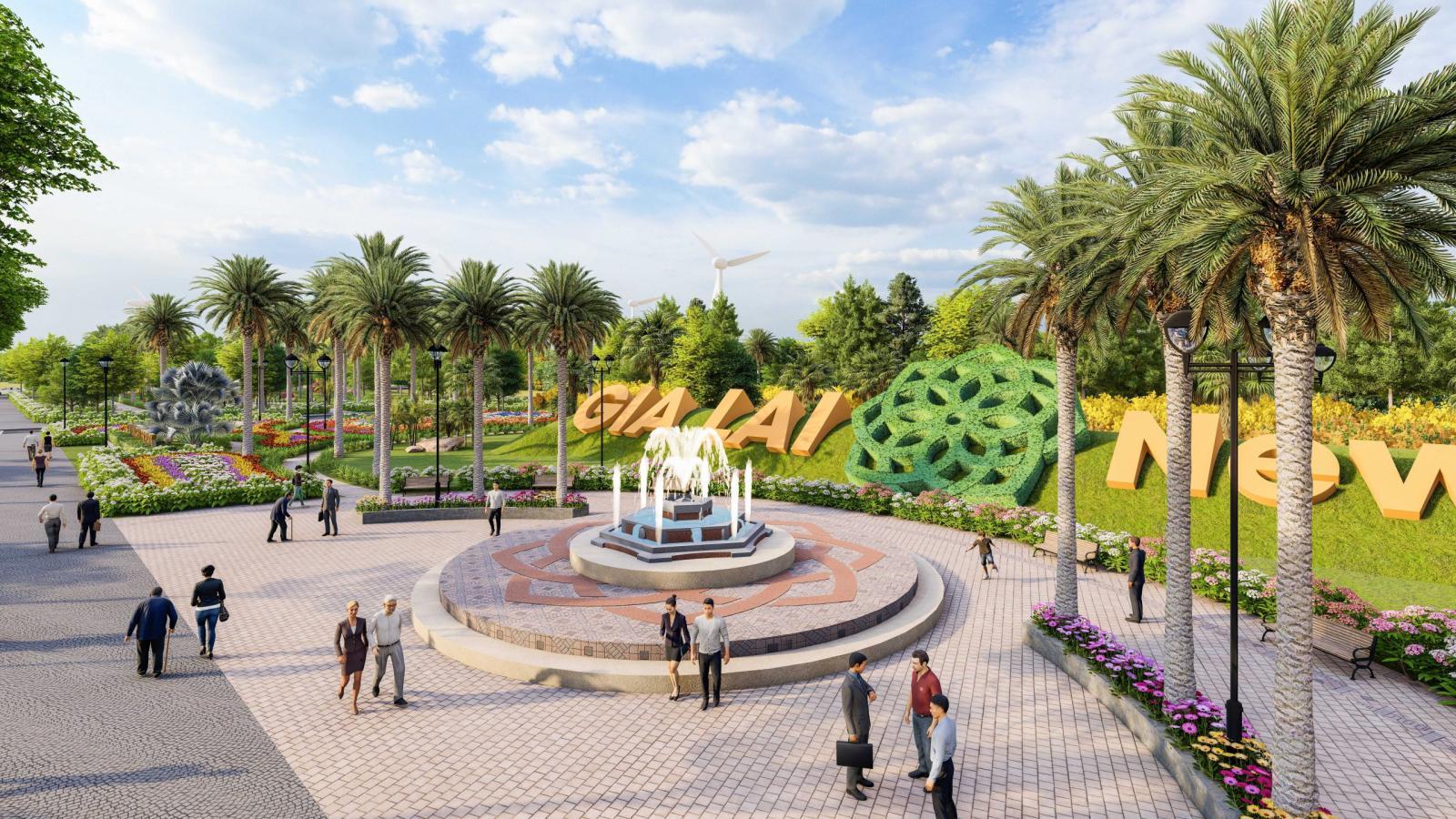 Công viên tại Gia Lai New City