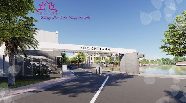 Cổng chào dự án Khu dân cư Chí Lành