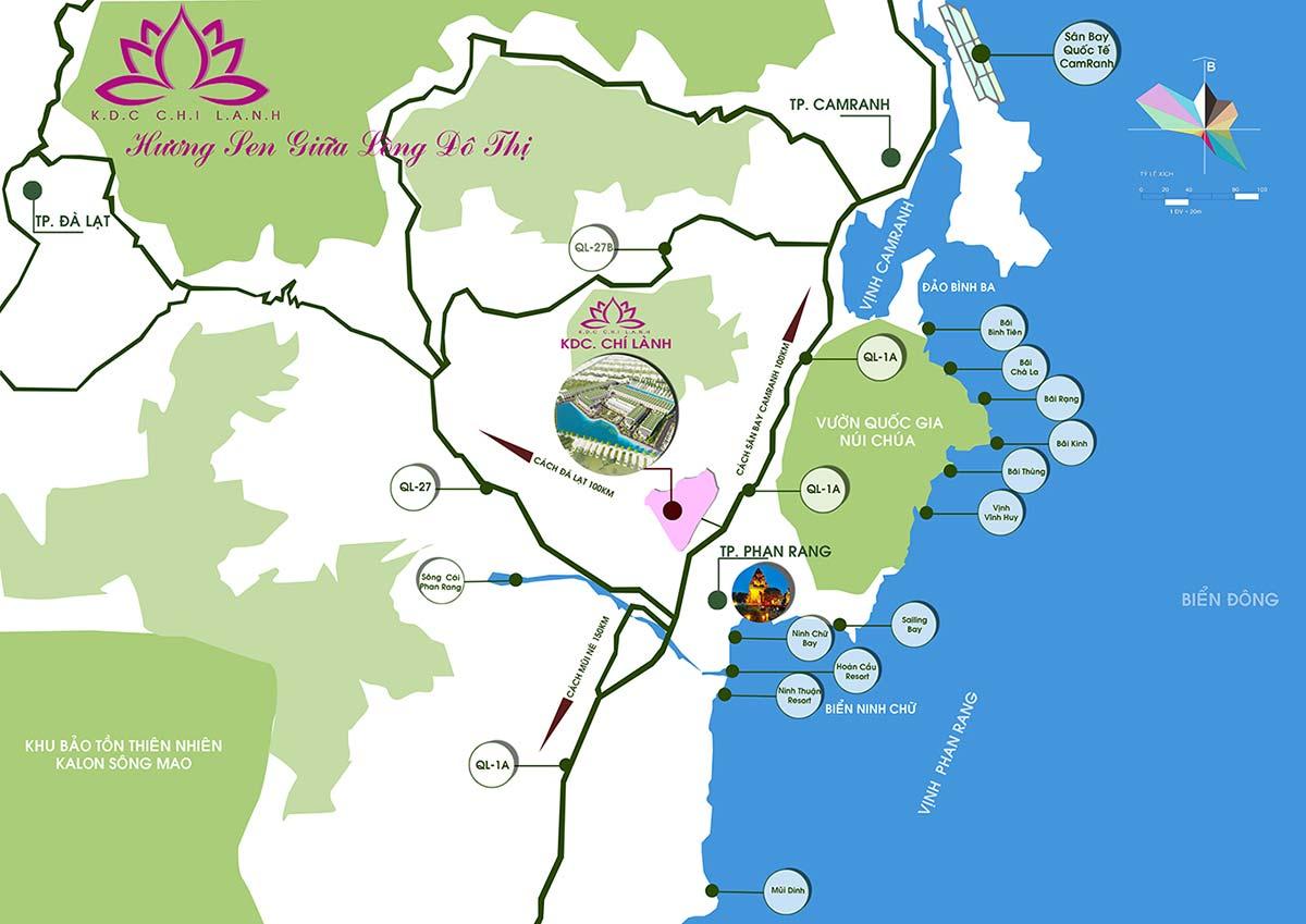 Vị trí Khu dân cư Chí Lành trên bản đồ