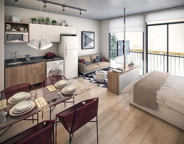 thiết kế nội thất bên trong căn hộ nhỏ
