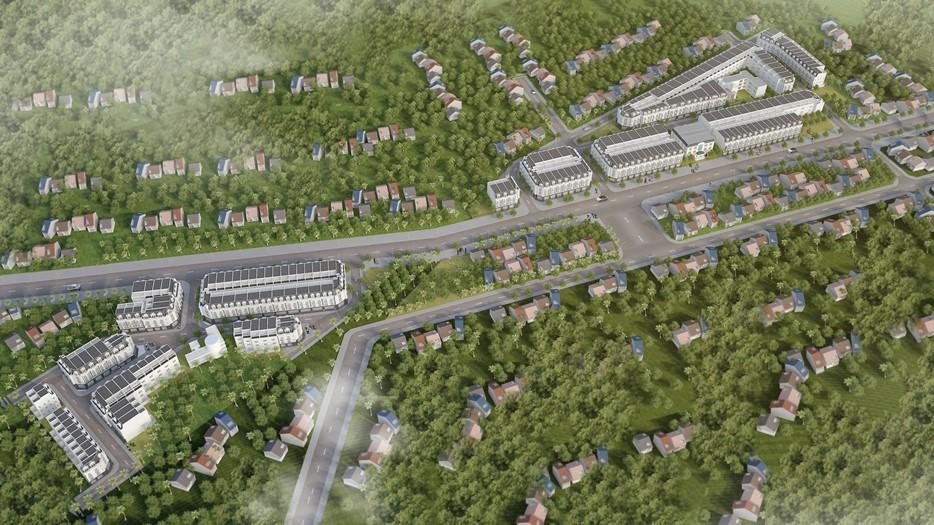 Hình ảnh phối cảnh Khu đô thị Hồng Diện tại Phổ Yên, Thái Nguyên