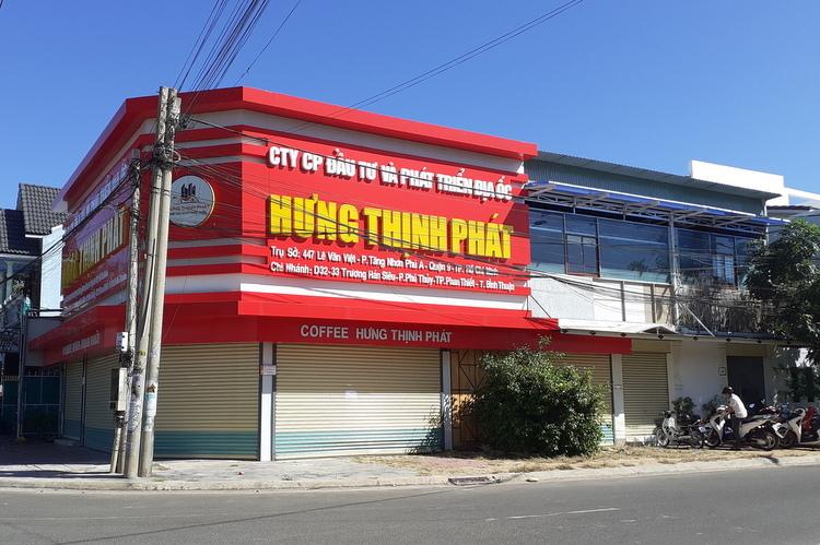 Hình ảnh trụ sở Công ty CP Đầu tư và phát triển địa ốc Hưng Thịnh Phát nằm ngay mặt tiền đường lớn