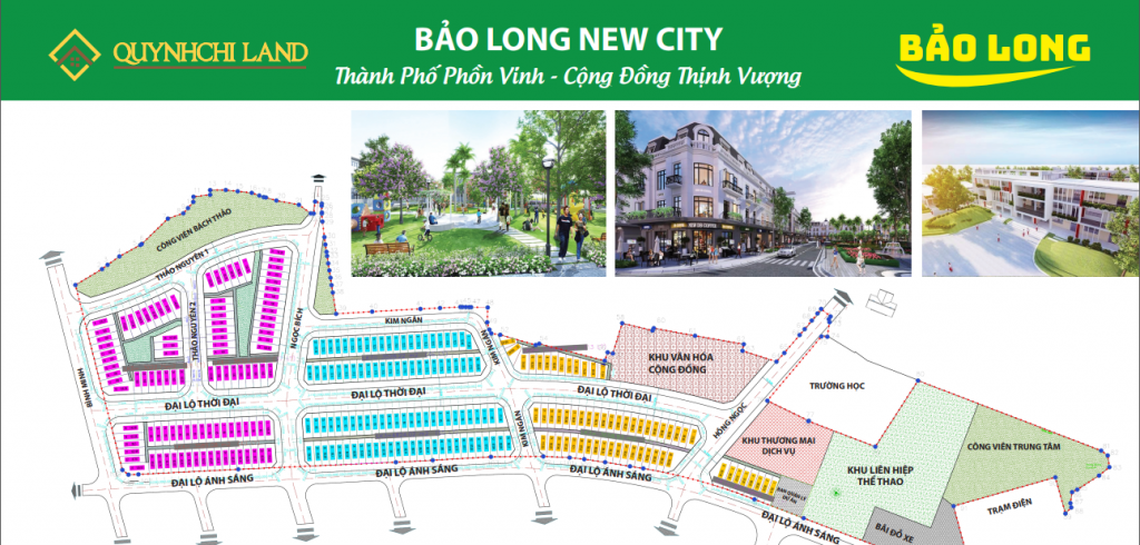 Bản đồ quy hoạch tổng thể Khu nhà phố liền kề Bảo Long New City Bắc Ninh