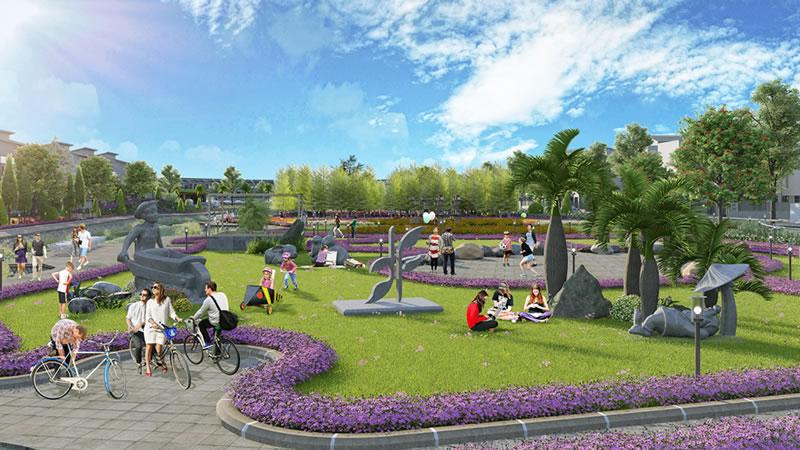 Công viên nội khu tại Bảo Long New City