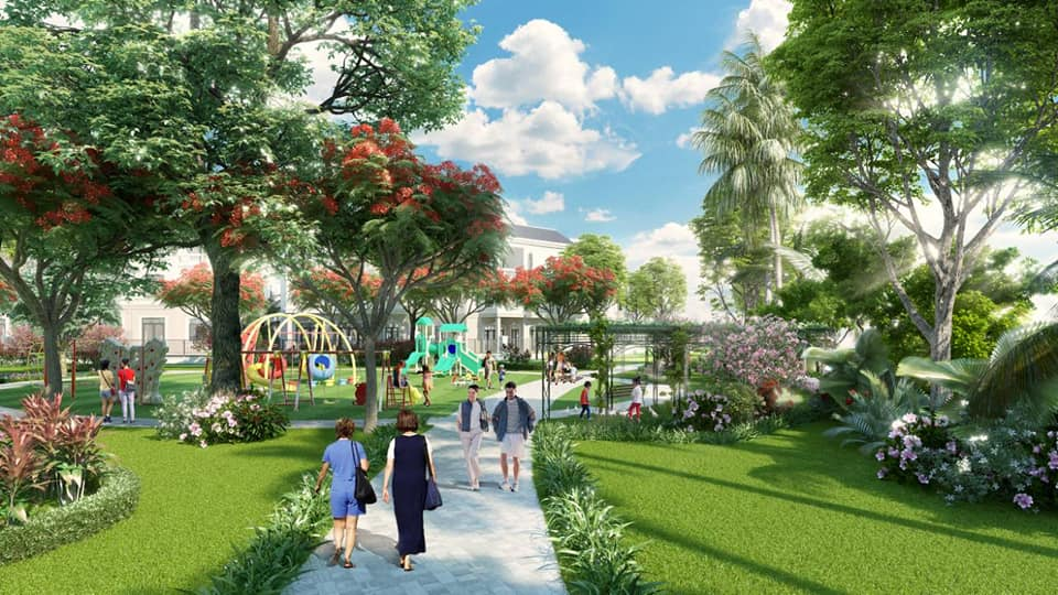 Đường dạo bộ tại Bảo Long New City