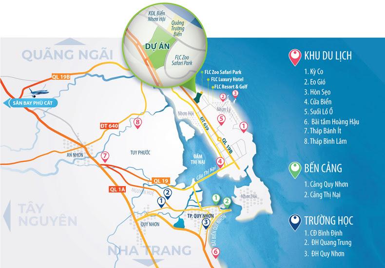 Vị trí dự án Kỳ Co Gateway trên bản đồ