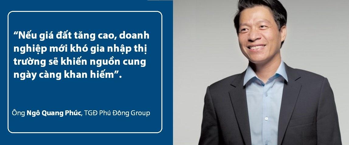 ông Ngô Quang Phúc nhận định về nguồn cung thị trường khi giá đất tăng