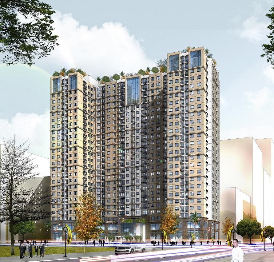 Phối cảnh tổng thể dự án NHS Phương Canh Residence tại phường Phương Canh, Nam Từ Liêm, Hà Nội