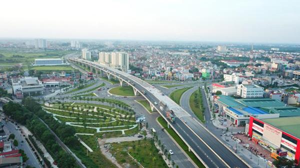 cầu vượt trên cao đi qua địa bàn quận Long Biên