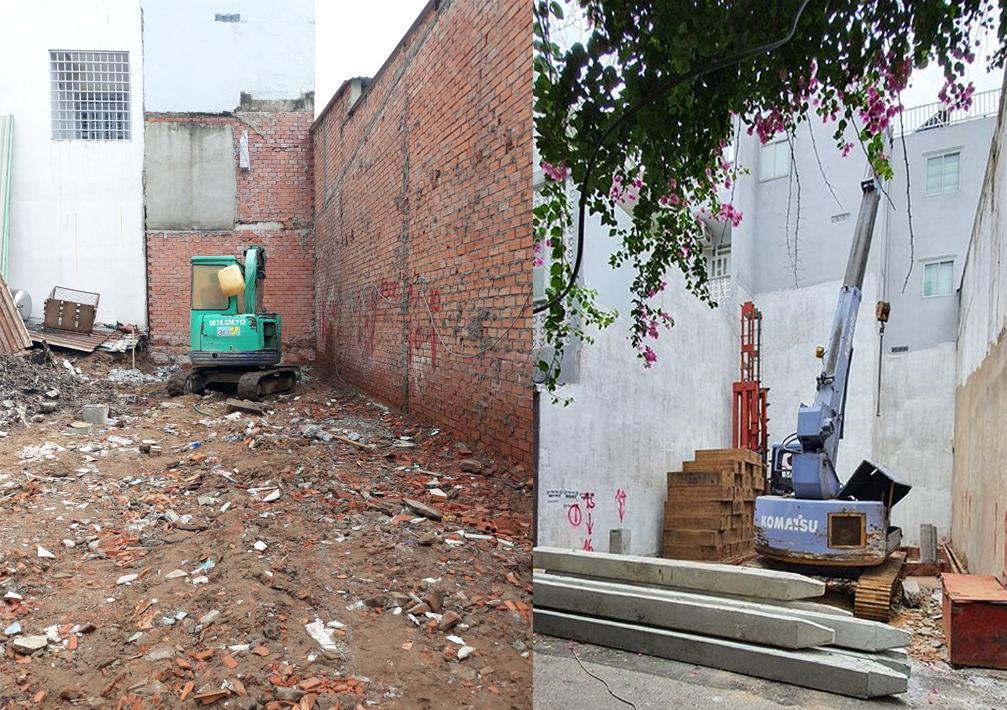 thi công ép cọc cho nhà ống ảnh hưởng đến chi phí xây nhà