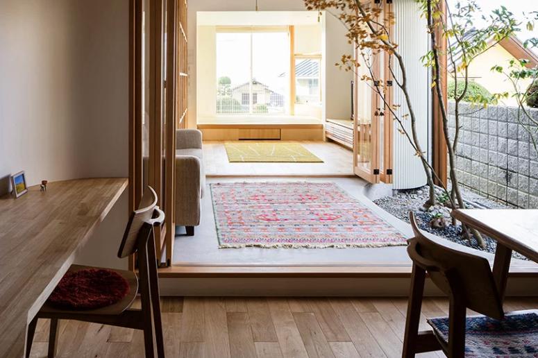 không gian nội thất của ngôi nhà Nhật tối giản