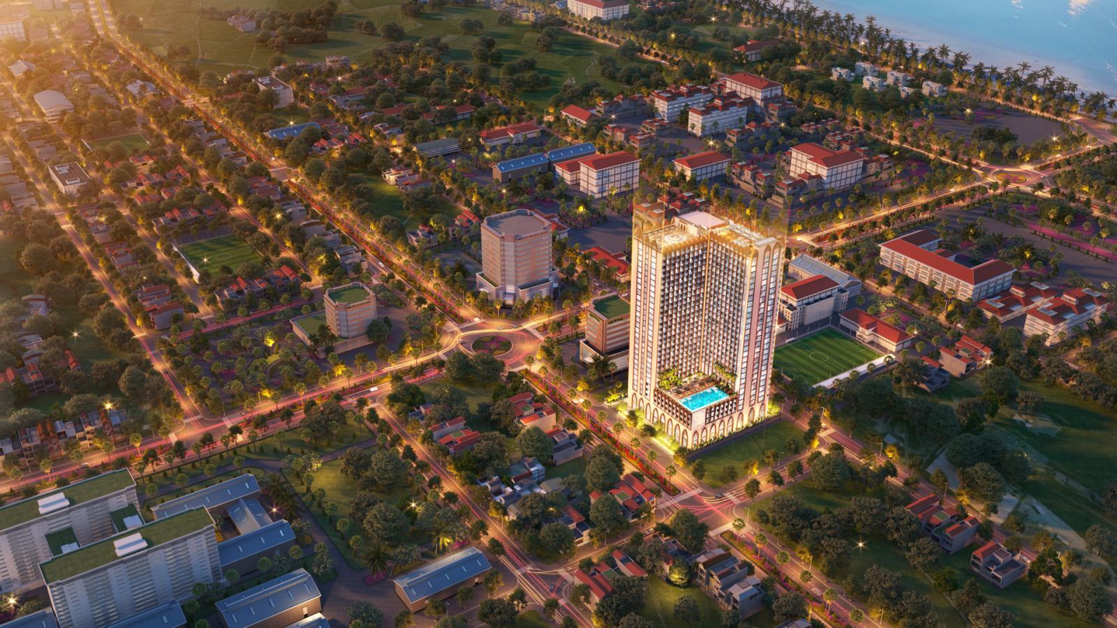 Phối cảnh tổng thể dự án Apec Mandala Grand Phú Yên tại Tuy Hòa, tỉnh Phú Yên