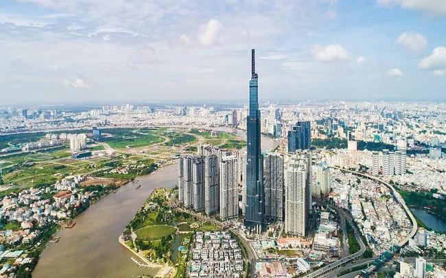 cảnh thành phố Hồ Chí Minh nhìn từ trên cao