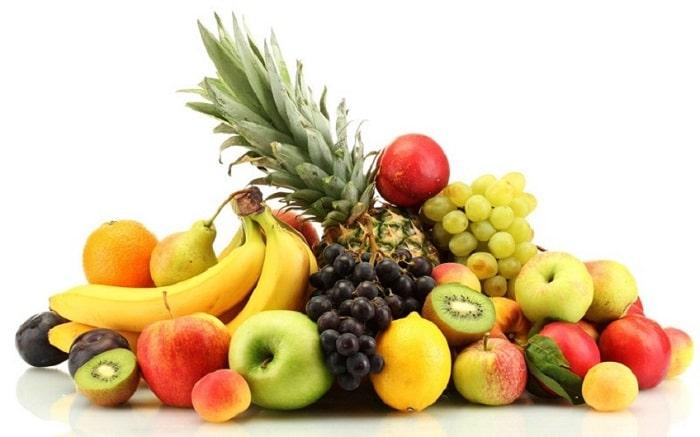 Ảnh chụp nhiều loại trái cây nhiều màu sắc đặt cạnh nhau