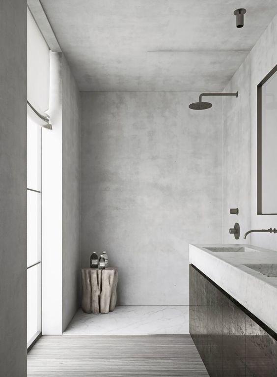 phòng tắm màu xám nhạt