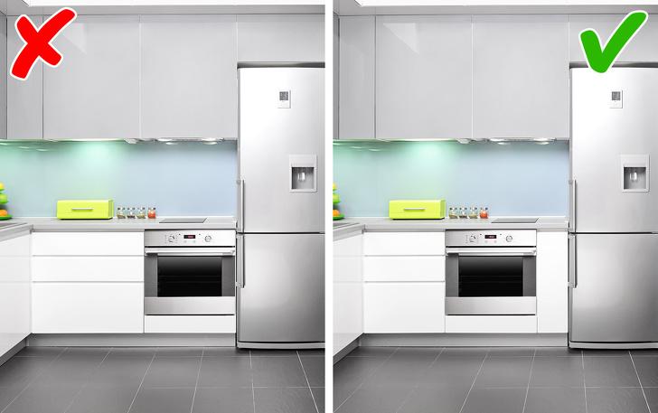 thiết kế bếp hợp lý và thiết kế bếp không hợp lý
