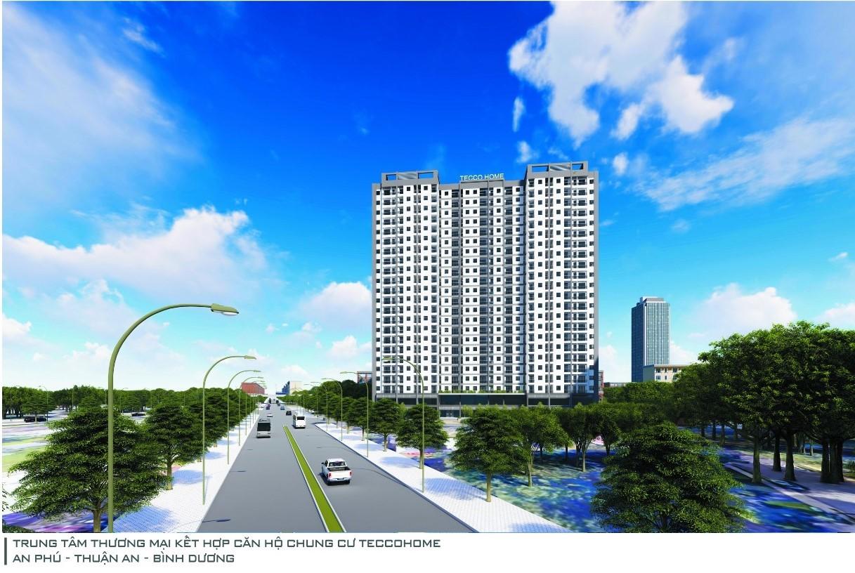 Phối cảnh tổng thể dự án Tecco Home tại Thuận An, Bình Dương