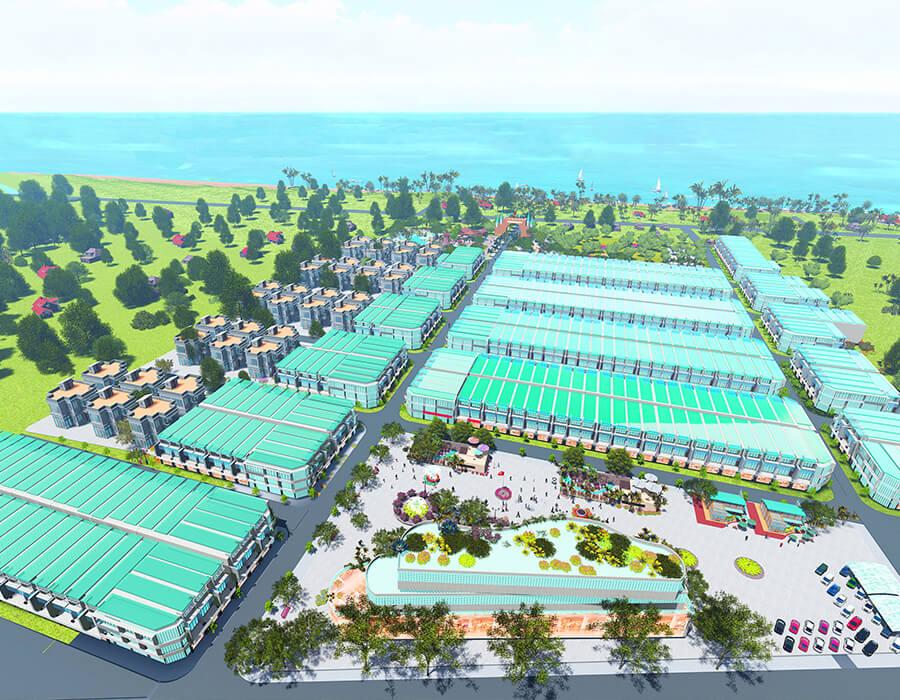 Phối cảnh tổng thể dự án Khu đô thị Hòa Bình New City tại TP. Hòa Bình