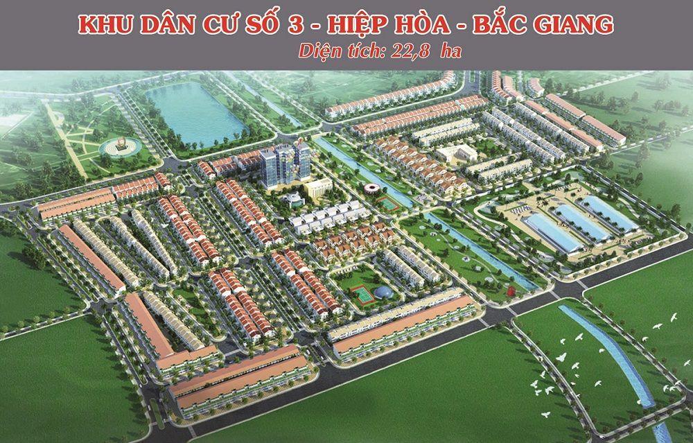Phối cảnh tổng quan Khu dân cư số 3 Thị trấn Thắng