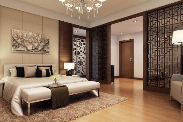 phòng ngủ master tông màu trung tính