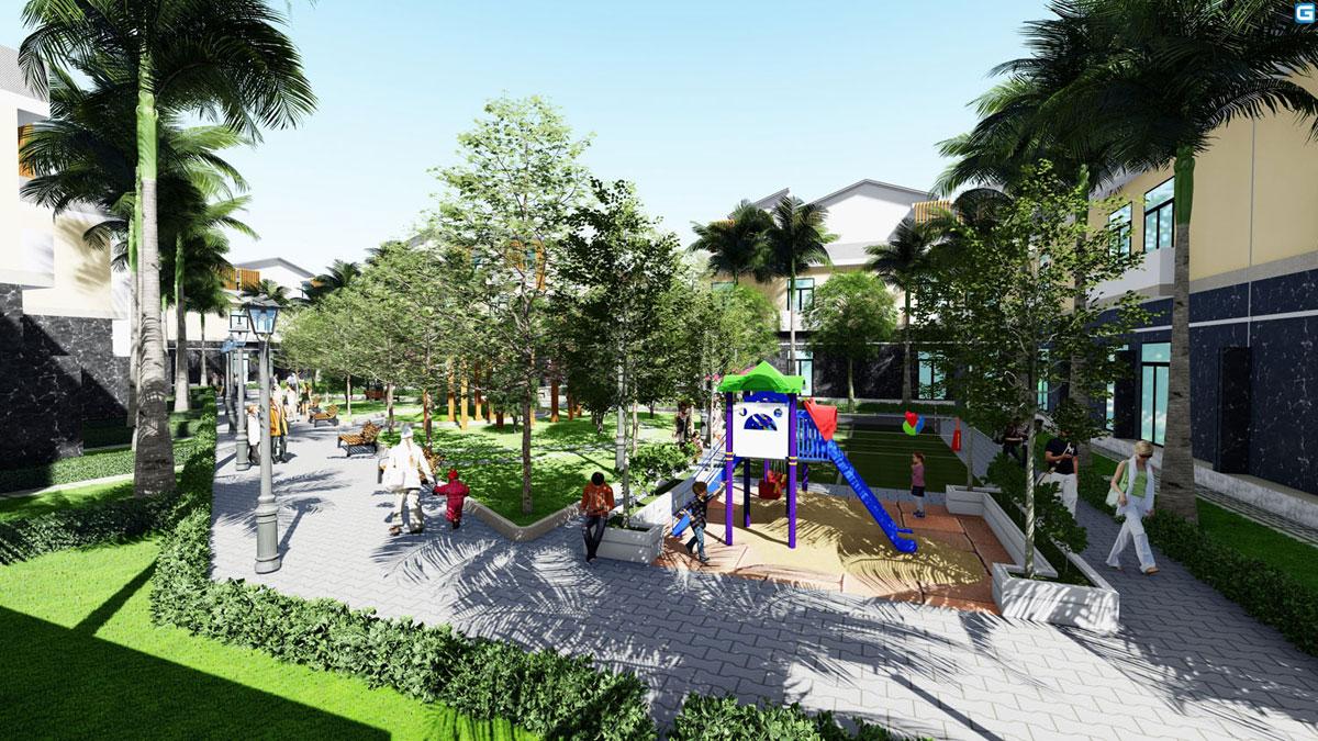 Công viên nội khu tại Bình Chánh New Center