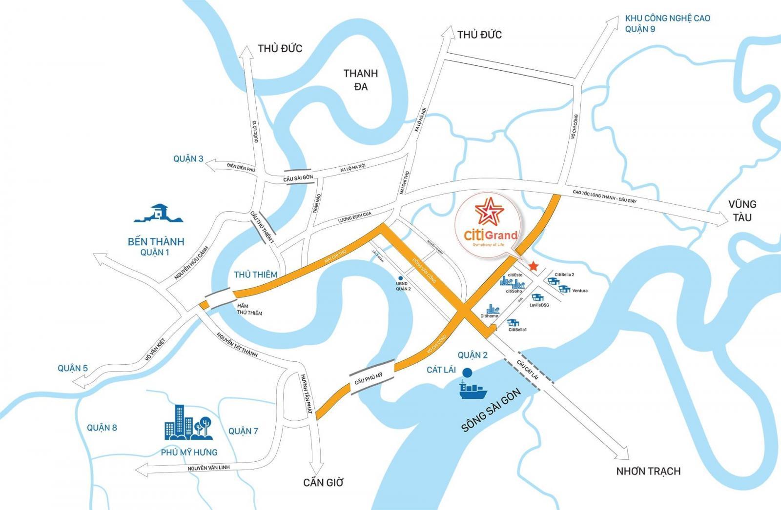 Vị trí dự án Căn hộ Citi Grand trên bản đồ