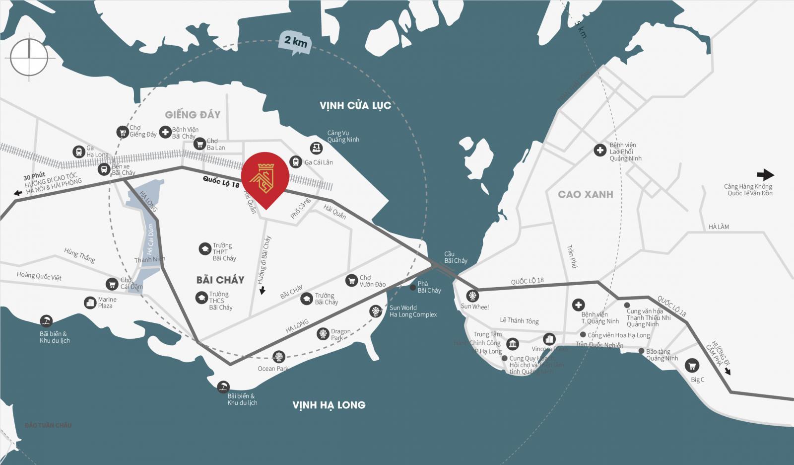 Vị trí dự án The Dragon Castle trên bản đồ