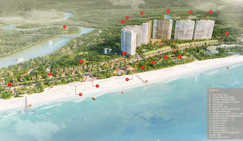 Sơ đồ tiện ích nội khu dự án Hồ Tràm Complex