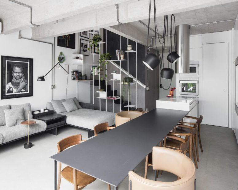 không gian sinh hoạt trong căn hộ đương đại