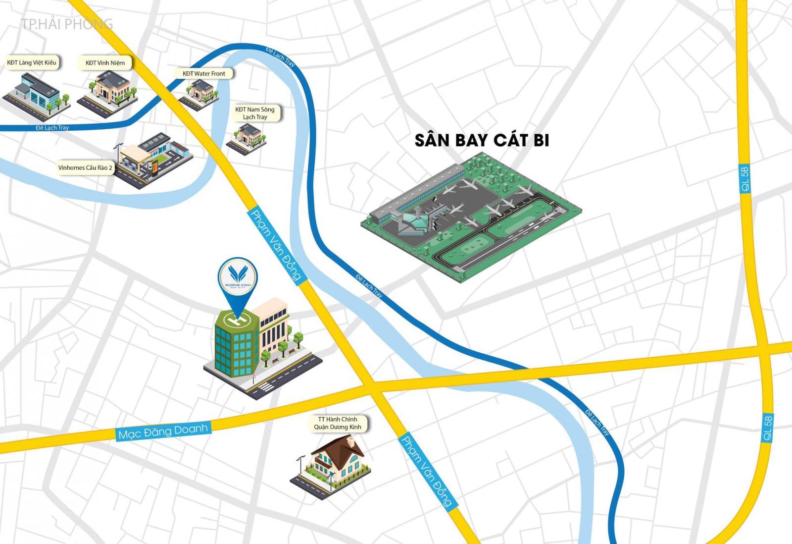 Vị trí dự án Dương Kinh New City trên bản đồ