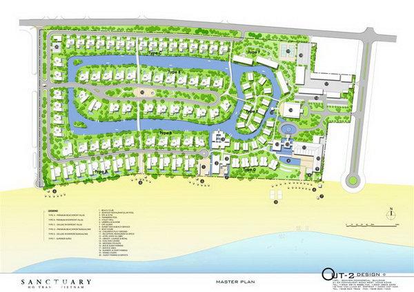 Sơ đồ quy hoạch dự án Sanctuary Hồ Tràm tại Xuyên Mộc, Bà Rịa Vũng Tàu