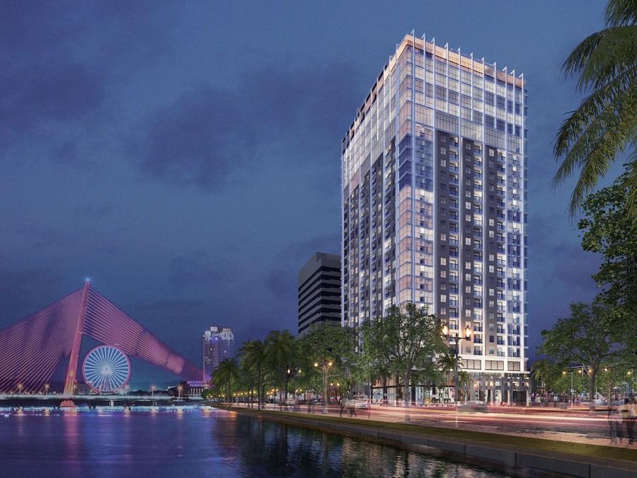 Phối cảnh tổng thể dự án Căn hộ Nagomi Waterfront Tower tại Hải Châu, Đà Nẵng
