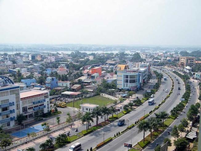 một góc tỉnh Đồng Nai có đường lớn và nhiều nhà ở
