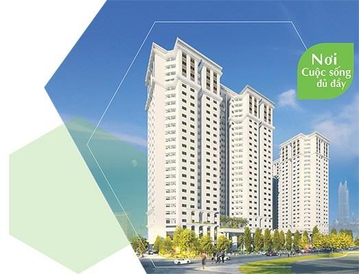 Phối cảnh tổng thể dự án Tecco Garden tại Khu đô thị Tứ Hiệp, Thanh Trì, Hà Nội