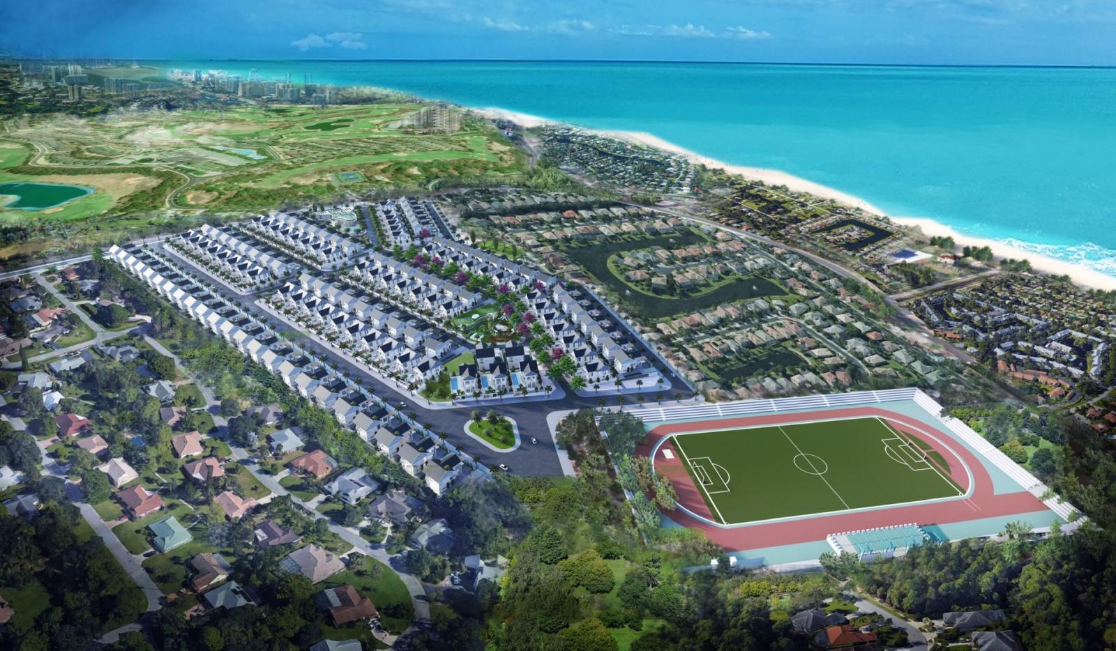 Phối cảnh tổng thể dự án Khu biệt thự Hill Villas tại Mũi Né