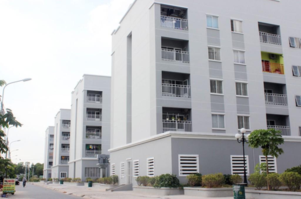 khu dân cư gồm nhiều dãy nhà cao tầng