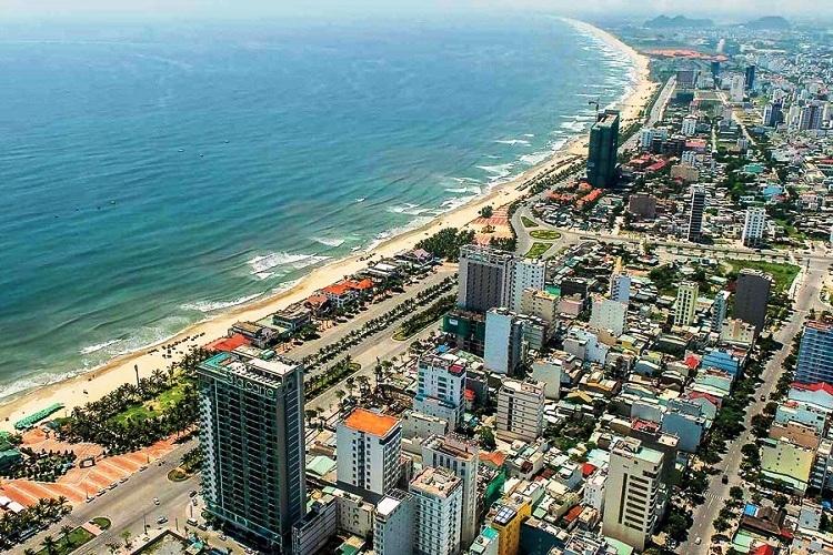 bất động sản nghỉ dưỡng ven biển gồm nhiều công trình nhà ở