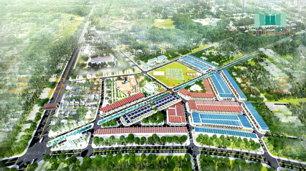 Phối cảnh tổng thể dự án Khu đô thị Diamond City tại Điện Thắng Trung, Quảng Nam